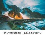 beautiful famous waterfall... | Shutterstock . vector #1316534840