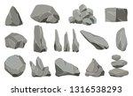 rock stones. graphite stone ... | Shutterstock .eps vector #1316538293