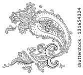 paisley. ethnic ornament. ...   Shutterstock .eps vector #131654324
