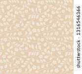 leaves with flowers on beige... | Shutterstock . vector #1316546366