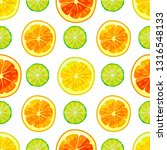 citrus colorful pattern. fruity ... | Shutterstock .eps vector #1316548133