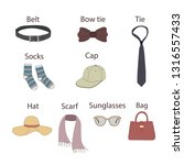 clothing modern accessories... | Shutterstock .eps vector #1316557433