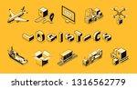 business logistics line art ... | Shutterstock .eps vector #1316562779