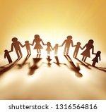 family paper chain cutout...   Shutterstock . vector #1316564816
