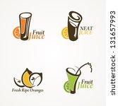 fruit juice symbols   vector... | Shutterstock .eps vector #131657993