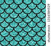 Aquamarine Glitter Texture....