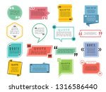 quotes shapes. text boxes... | Shutterstock .eps vector #1316586440
