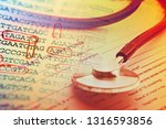 patient history form and... | Shutterstock . vector #1316593856