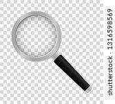 realistic magnifier on... | Shutterstock .eps vector #1316598569