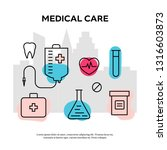 healthcare concept with... | Shutterstock .eps vector #1316603873