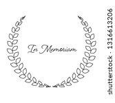 funeral wreath with in memoriam ...   Shutterstock .eps vector #1316613206