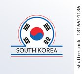 south korea flag icon. south... | Shutterstock .eps vector #1316614136