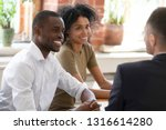 smiling african hr managers... | Shutterstock . vector #1316614280