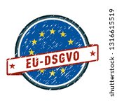 eu dsgvo label illustration | Shutterstock .eps vector #1316615519