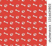 seamless pattern with bones ... | Shutterstock .eps vector #1316634803