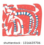 creative artistic background.... | Shutterstock .eps vector #1316635706