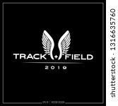 track and field  wing logo ... | Shutterstock .eps vector #1316635760