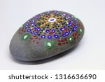 closeup of a uniquely painted... | Shutterstock . vector #1316636690