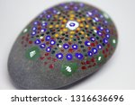 closeup of a uniquely painted... | Shutterstock . vector #1316636696