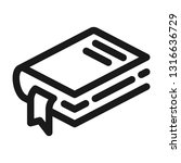bookmark book icon. line style | Shutterstock .eps vector #1316636729