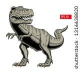 tyrannosaurus rex or t rex...   Shutterstock .eps vector #1316638820
