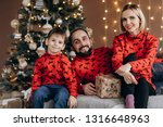 attractive parents and their... | Shutterstock . vector #1316648963