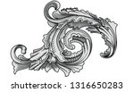 vintage decorative design. old... | Shutterstock .eps vector #1316650283