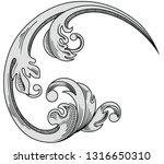 vintage decorative design. old...   Shutterstock .eps vector #1316650310