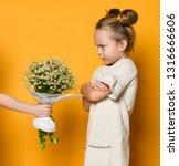 sad frowning little girl...   Shutterstock . vector #1316666606