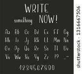 hand drawn font made by ink... | Shutterstock .eps vector #1316667506