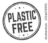 plastic free sign or stamp on...   Shutterstock .eps vector #1316670593