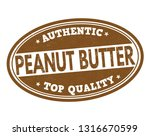 peanut butter sign or stamp on... | Shutterstock .eps vector #1316670599