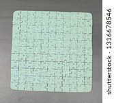 close up. blank card collected... | Shutterstock . vector #1316678546