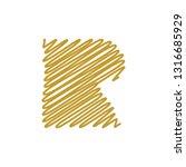modern trendy r letter unique... | Shutterstock .eps vector #1316685929