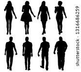 black silhouette group of...   Shutterstock . vector #1316686259