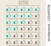 like rating set | Shutterstock .eps vector #131669228