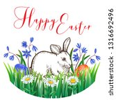 easter greeting card with... | Shutterstock .eps vector #1316692496