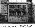 Graffiti Covered Abandoned Door