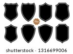 badge shape set vector template | Shutterstock .eps vector #1316699006