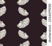 cute ballet seamless pattern... | Shutterstock .eps vector #1316699030