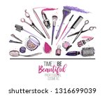 beauty salon  manicure  makeup  ... | Shutterstock .eps vector #1316699039