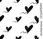 simple black heart seamless... | Shutterstock .eps vector #1316699099