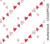 simple little hearts. hand... | Shutterstock .eps vector #1316699120
