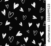 simple little hearts. hand... | Shutterstock .eps vector #1316699123