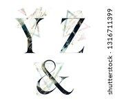 abstract alphabet font set  ... | Shutterstock . vector #1316711399