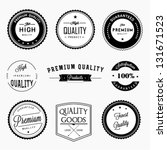 premium quality labels set | Shutterstock .eps vector #131671523