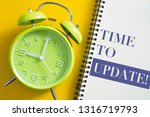 time to update concept with...   Shutterstock . vector #1316719793