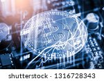 modern way of exchange. bitcoin ...   Shutterstock . vector #1316728343