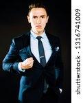 young pretty business man...   Shutterstock . vector #1316741009