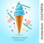 candy   flavored soft ice cream ... | Shutterstock .eps vector #1316748926